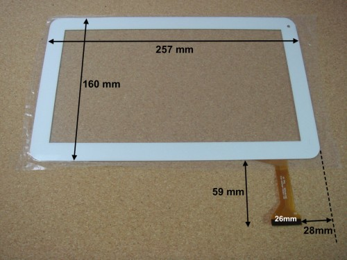 "Vitre tactile 10"" pour tablette LOGICOM E1052GP MY1306P (version 50pin) - 16546"