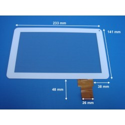 """Vitre tactile noire 9"""" pouces 50 pin OPD-TPC0091 HD - 17156"""