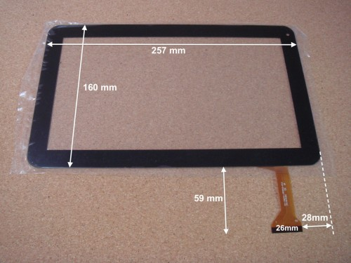 "Vitre tactile 10"" pour tablette LOGICOM E1052GP MY1306P (version 50pin) - 15556"