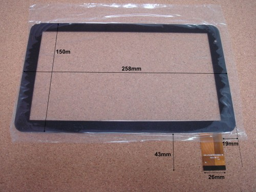 "Vitre tactile 10"" pour tablette POLAROID MID1045 (version 1) - 17850"