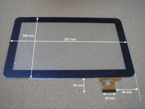 "Vitre tactile 10"" por tablette POLAROID MID1047 (version 50pin courte ) - 16921"