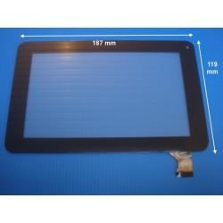 Vitre tactile  noire pour tablette 7 pouces (30 pin) Version 119mm